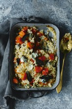 Butternut & blue cheese baked risotto