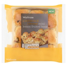 Waitrose Mini Lemon Fruited Buns