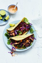 ​Steak tacos with chipotle pepper sauce