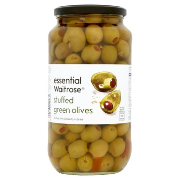 essential Waitrose Stuffed Green Olives